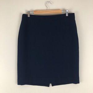 J. Crew Navy Blue Pencil Skirt